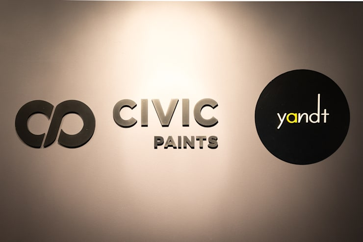 Y&T and Civic Paints Office:  Offices & stores by Y&T Pte Ltd,