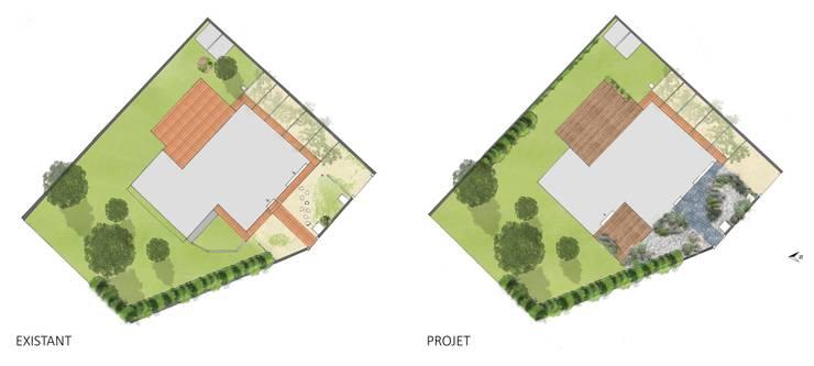 Plans Jardin moderne par Constans Paysage Moderne