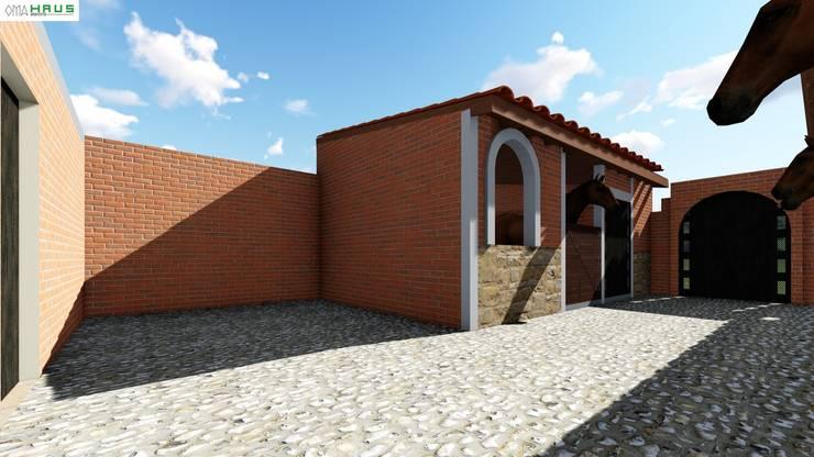 Caballerizas: Casas de estilo rústico por OmaHaus Arquitectos