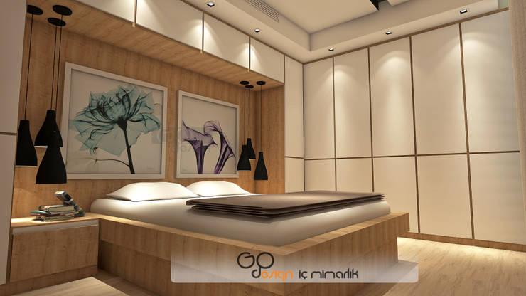 GO Design İç Mimarlık – N.D. Koşuyolu Villa Projesi: modern tarz Yatak Odası