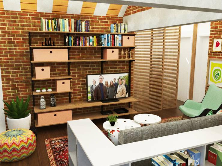 Salas de estilo  por Nume Design de Ambientes
