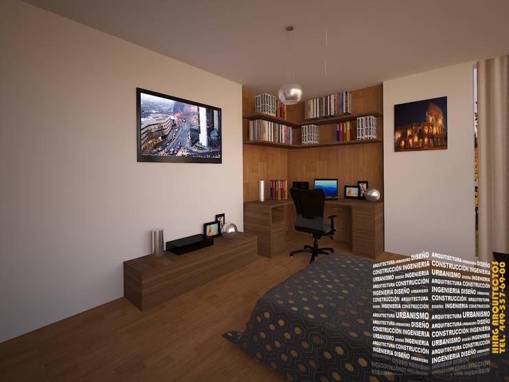 Dormitorios de estilo  por HHRG ARQUITECTOS