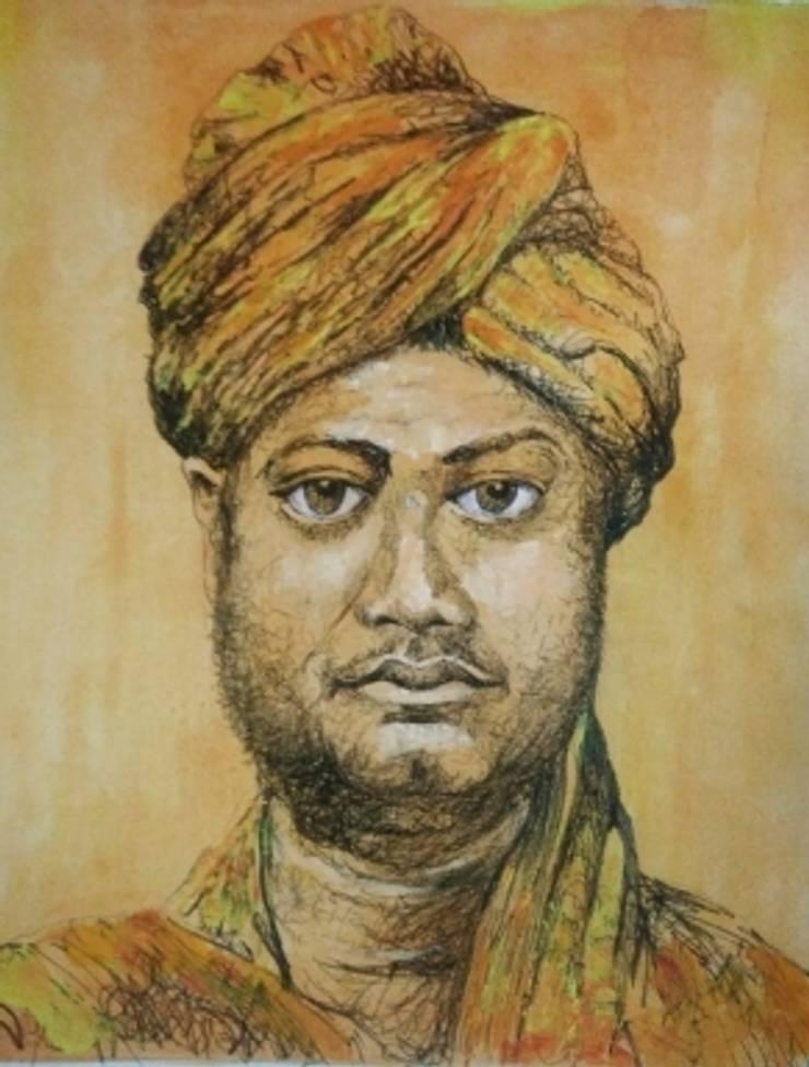 Vivekananda: asian  by Indian Art Ideas,Asian
