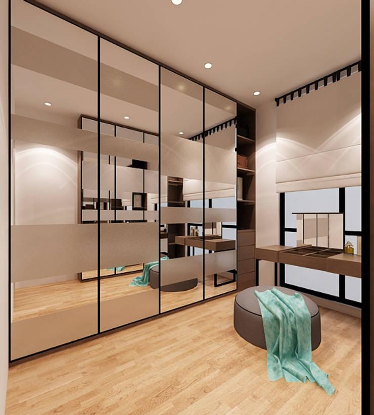 Lance wood @ Navapark BSD:  Ruang Ganti by iugo design