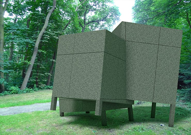 Folly De Hermitage:  Exhibitieruimten door Huting & De Hoop