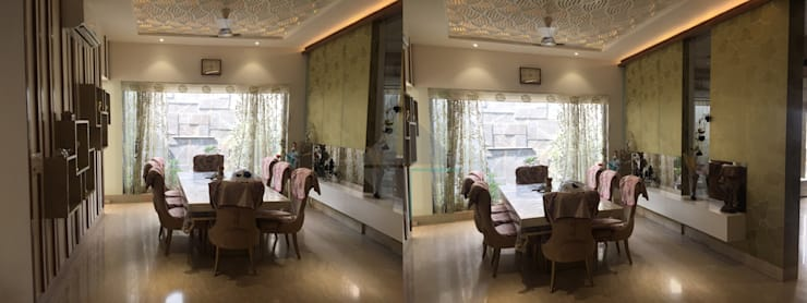 KIRTI BHAWAN:  Dining room by APT Designs
