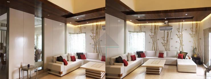 KIRTI BHAWAN:  Living room by APT Designs