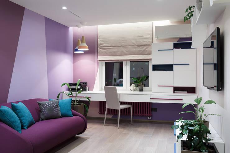 """Апартаменты ЖК """"Гранд фамилия"""": Детские комнаты в . Автор – ART Studio Design & Construction"""