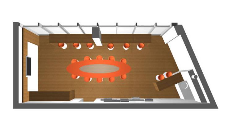 interieur skybox:  Stadions door Huting & De Hoop