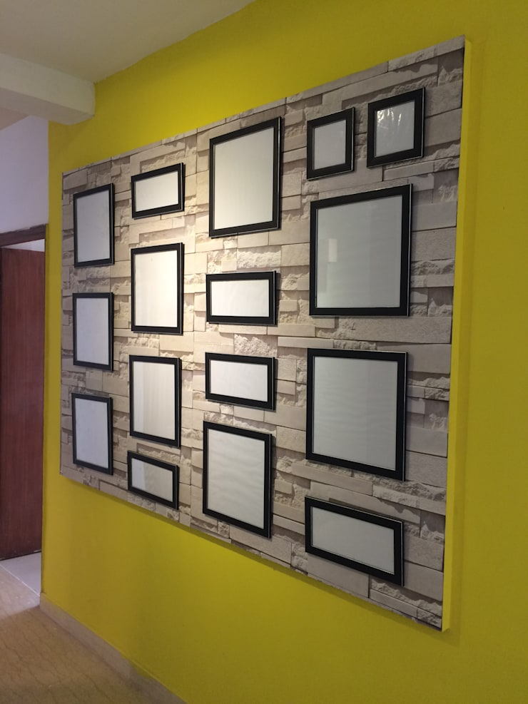 Wall Of Frames:  Artwork by Pee Cee Interiors