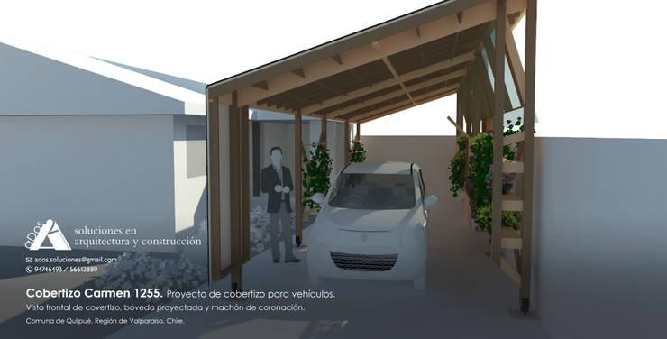 Cobertizo Carmen 1255. Proyecto de cobertizo para vehículos.:  de estilo  por Ados