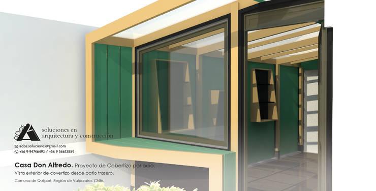 Casa don Alfredo. Proyecto de cobertizo por ocio.:  de estilo  por Ados