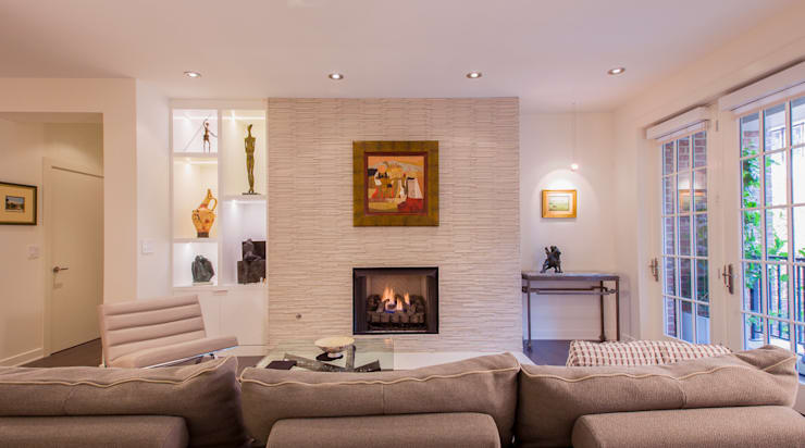 McLean Transitional :  Living room by FORMA Design Inc.