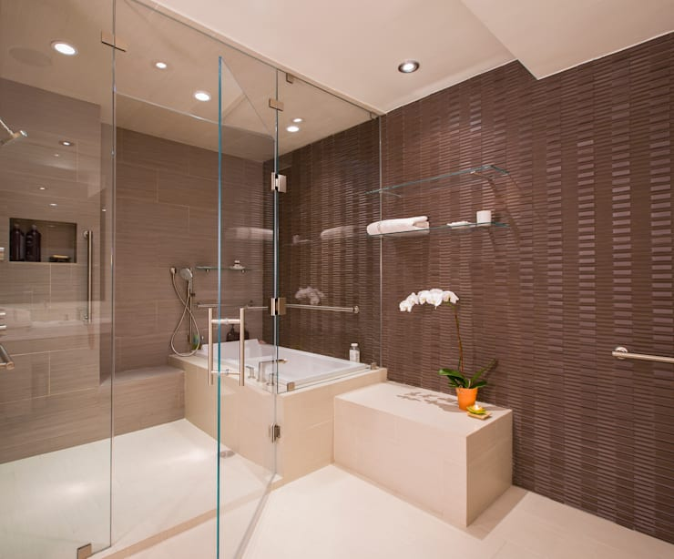 McLean Transitional : modern Bathroom by FORMA Design Inc.