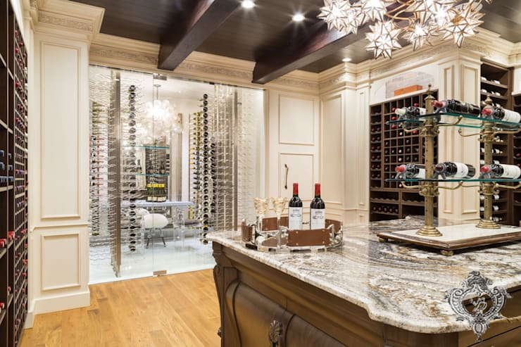 Wine Cellar:  Wine cellar by Kellie Burke Interiors