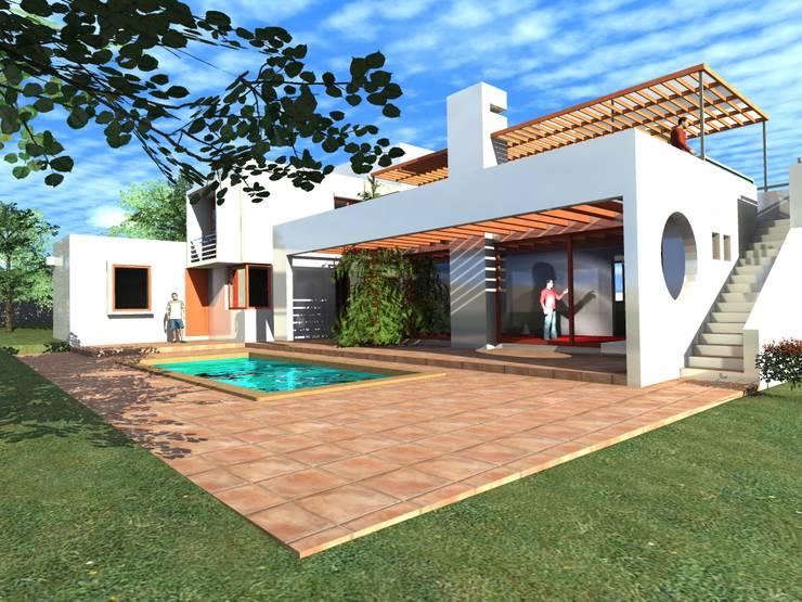 Casa Suazo: Casas de estilo  por AOG SPA