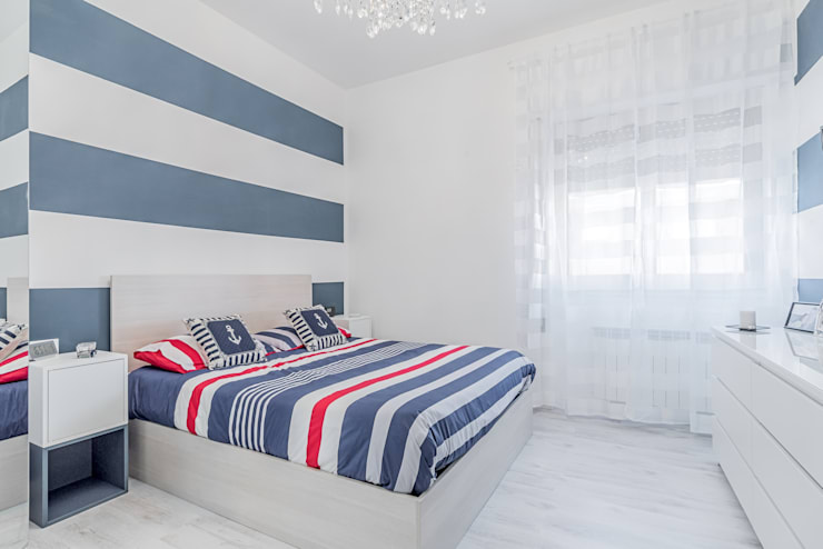 Camere A Righe : 8 colori giusti per la parete dietro al letto