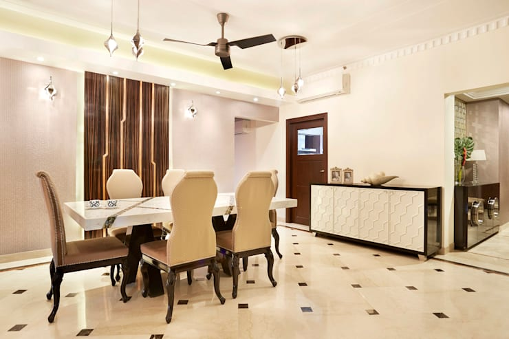 central park, Gurgaon. (residence):  Dining room by Total Interiors Solutions Pvt. ltd.