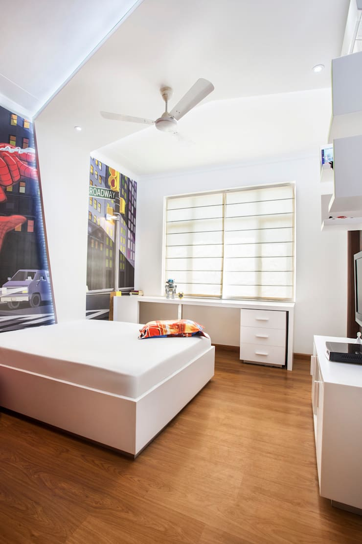 central park, Gurgaon. (residence):  Bedroom by Total Interiors Solutions Pvt. ltd.