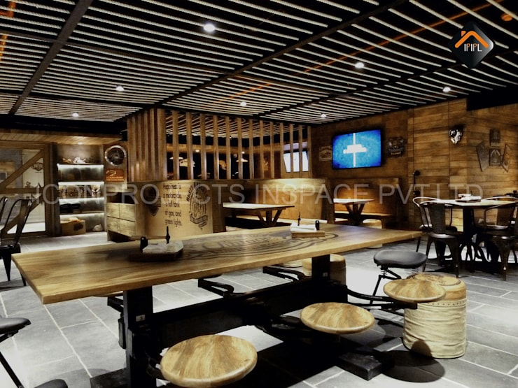Cafe:  Hotels by ICON PROJECTS INSPACE PVT.LTD,Rustic