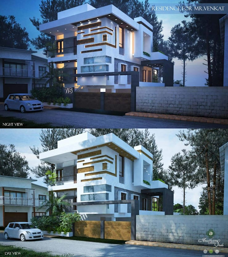 Proposed residence for Mr.Venkat:   by Anutham Architecture studio