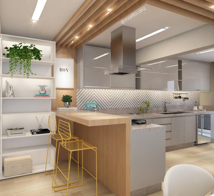 Cocinas de estilo  por Marilia Zimmermann Arquitetura e Interiores