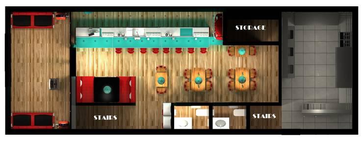 Planta del proyecto: Gastronomía de estilo  por Diseño de Locales,