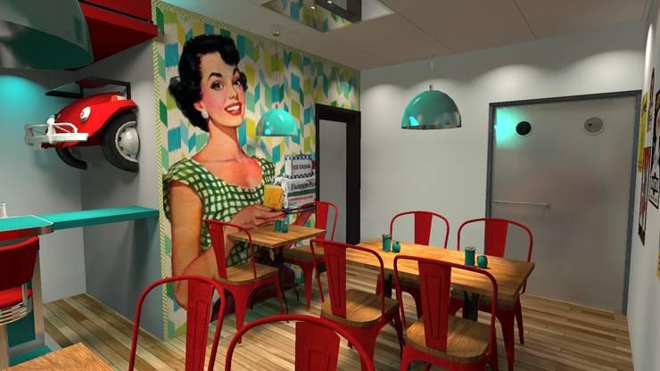 Main Restaurant: Gastronomía de estilo  por Diseño de Locales,