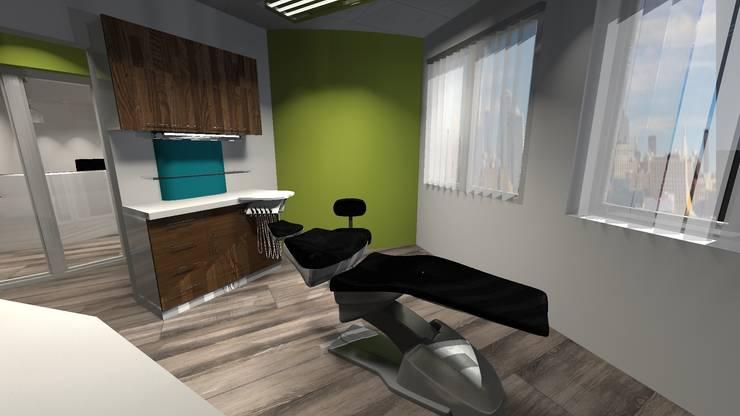 Consultorio Odontológico en EE.UU: Clínicas y consultorios médicos de estilo  por Diseño de Locales
