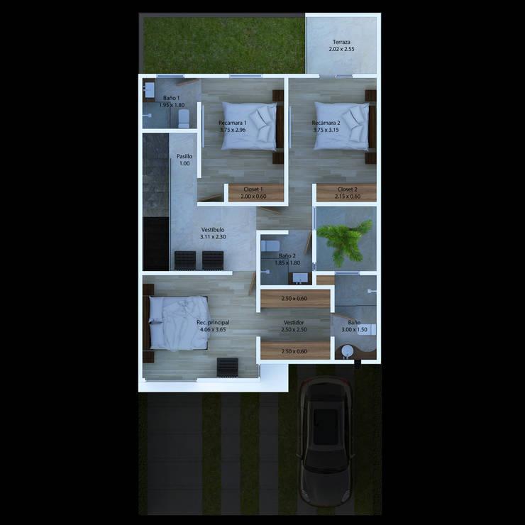 La Rivera Lote 20: Casas de estilo  por Eduardo Esquivel Arquitectura