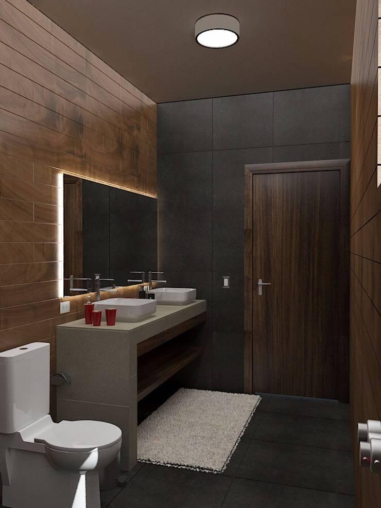 Interiores-wc: Baños de estilo  por Crearqtiva