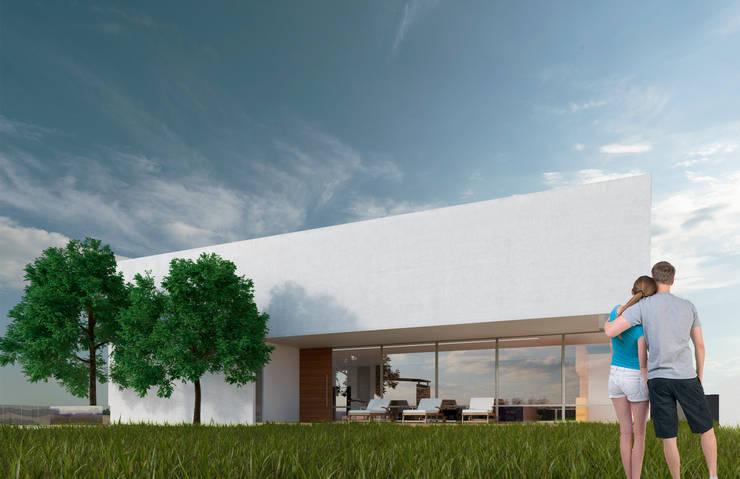 Fachada principal G+G:  de estilo  por Micheas Arquitectos