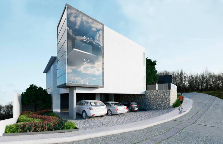 Fachada lateral:  de estilo  por Micheas Arquitectos