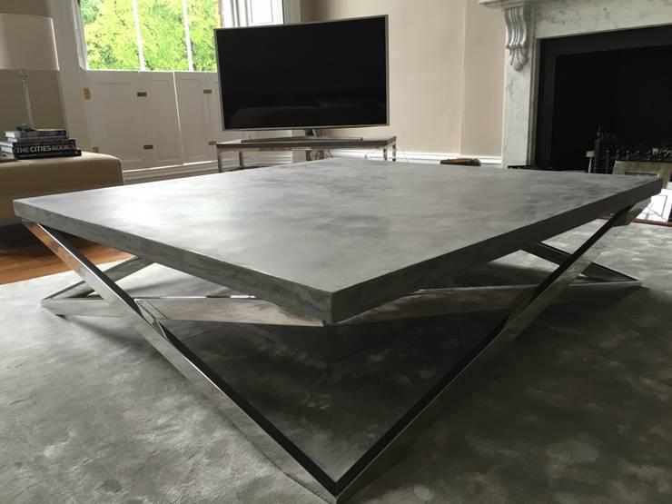 Living room by Daniel Polished Concrete