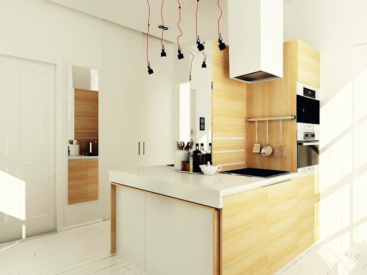 Studio Apartment, Noida: modern Kitchen by AR T Architect