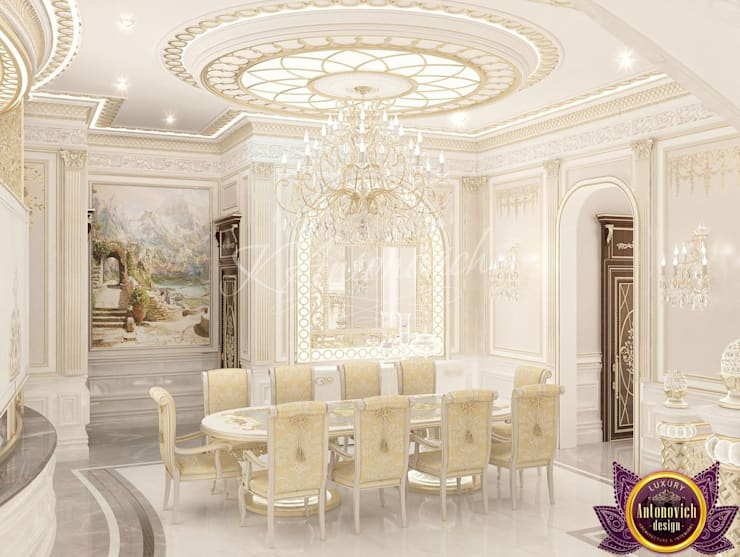 ​  House design of Katrina Antonovich:  Corridor & hallway by Luxury Antonovich Design