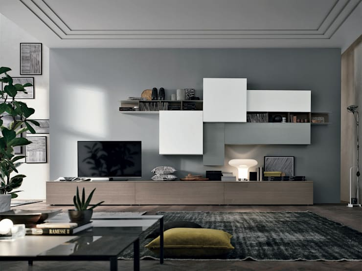 غرفة المعيشة تنفيذ Abita design srl / Paolo Vindigni