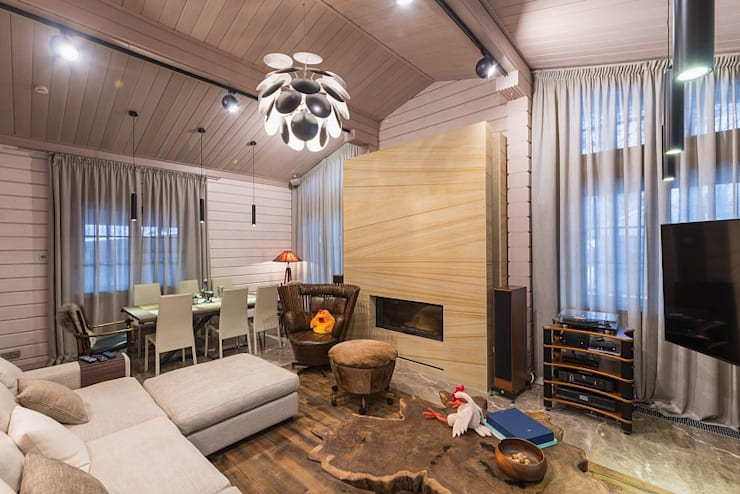 Living room by GOOD WOOD