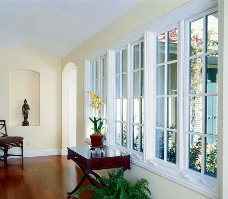 Ultimate AluClad Wood Casement Windows:  uPVC windows by Marvin Architectural