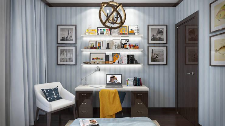غرفة نوم أولاد تنفيذ Арт Реал Дизайн
