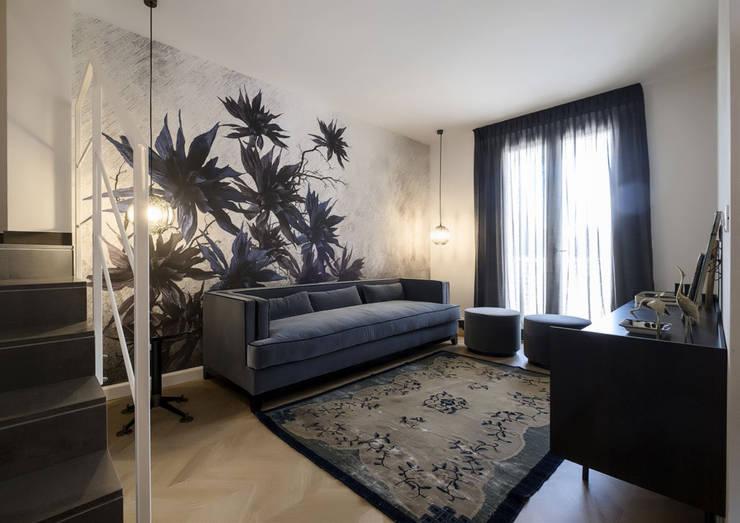 Salas / recibidores de estilo moderno por Daniela Nori