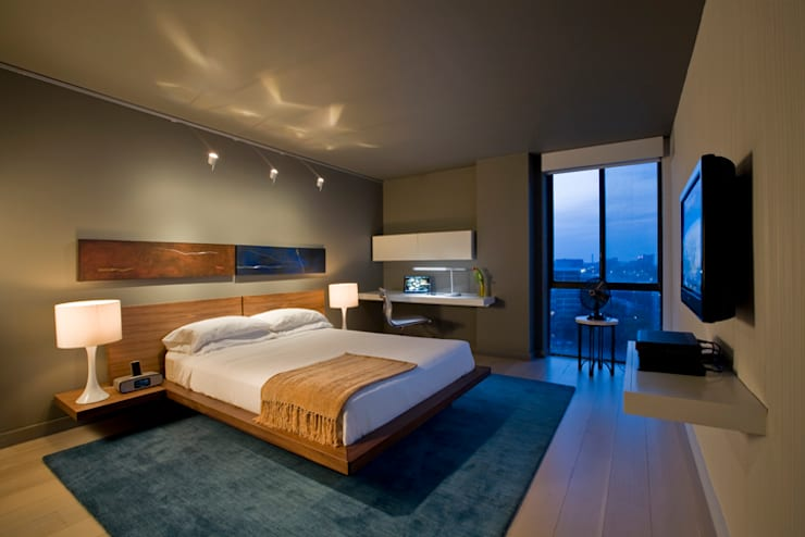 Flat in McLean, VA: modern Bedroom by FORMA Design Inc.