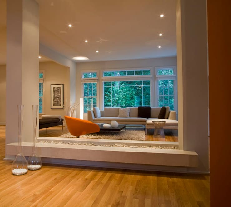 Lake Barcroft Residence: modern Living room by FORMA Design Inc.