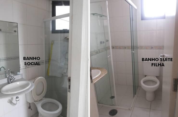 浴室 by PRISCILLA BORGES ARQUITETURA E INTERIORES