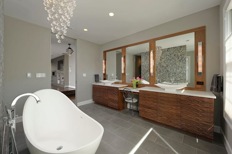 Master Suite and Master Bathroom Renovation in Great Falls, VA:  Bathroom by BOWA - Design Build Experts