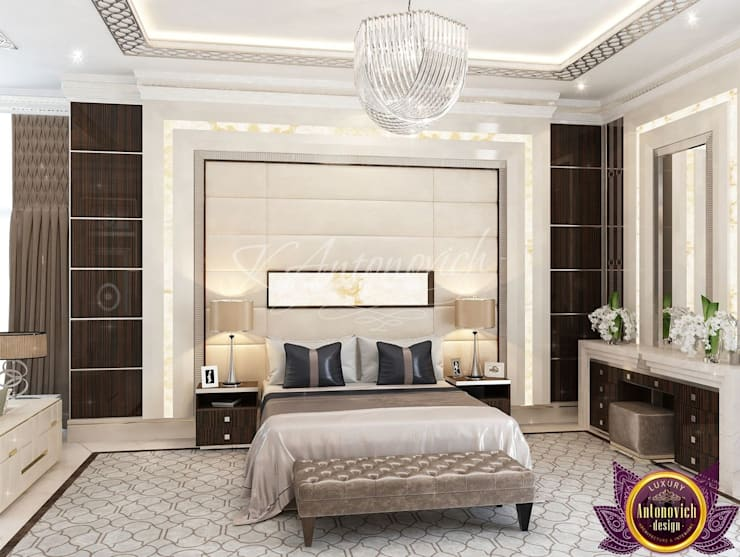 ​  Modern bedroom design of Katrina Antonovich:  Bedroom by Luxury Antonovich Design