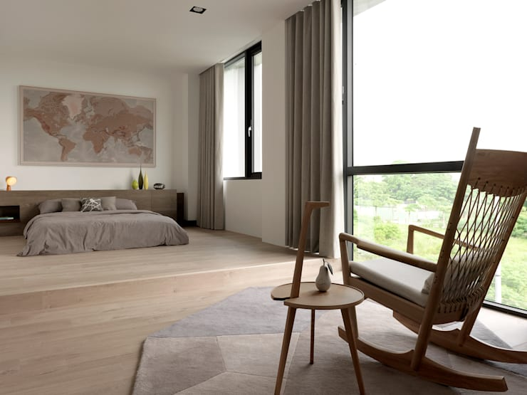 展Zhan:  臥室 by 禾築國際設計Herzu  Interior Design