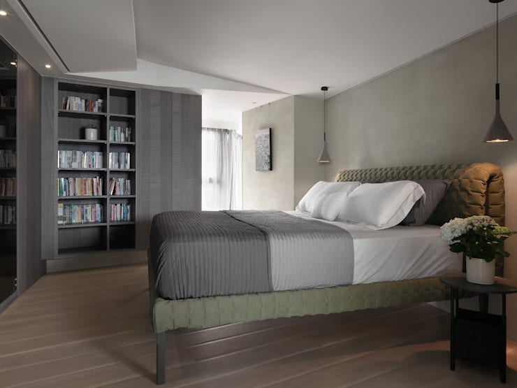 JJ HOUSE:  臥室 by 禾築國際設計Herzu  Interior Design