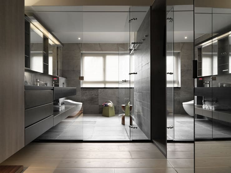 JJ HOUSE:  浴室 by 禾築國際設計Herzu  Interior Design