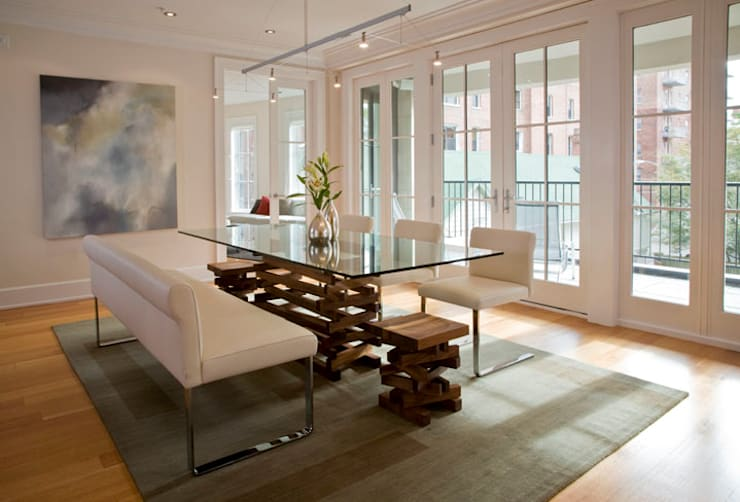 Kalorama Flat: modern Dining room by FORMA Design Inc.